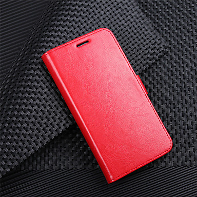 billige Etuier til HTC-Etui Til HTC HTC Desire 12 / HTC Desire 12+ Pung / Kortholder / Flip Fuldt etui Ensfarvet Hårdt PU Læder for HTC U11 plus / HTC U11 Life / HTC U11