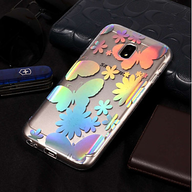 voordelige Galaxy J-serie hoesjes / covers-hoesje Voor Samsung Galaxy J7 (2017) / J7 (2016) / J7 IMD / Patroon Achterkant Vlinder Zacht TPU