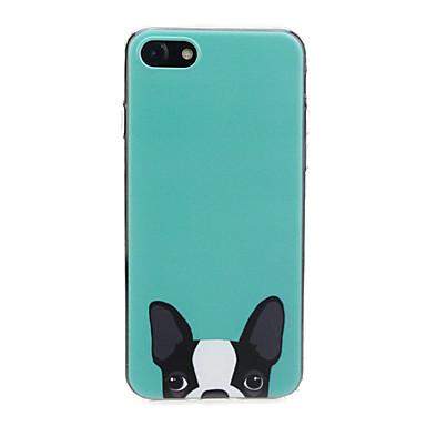 voordelige iPhone 6 hoesjes-hoesje Voor Apple iPhone X / iPhone 8 Plus / iPhone 8 Ultradun / Patroon / Schattig Achterkant Hond / dier Zacht TPU