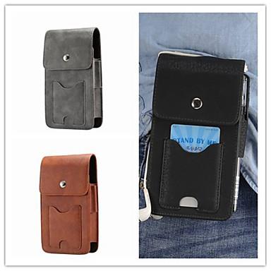 Недорогие Чехлы и кейсы для Galaxy S4 Mini-Кейс для Назначение SSamsung Galaxy S9 / S9 Plus / S8 Plus Бумажник для карт Мешочек Однотонный Твердый Настоящая кожа
