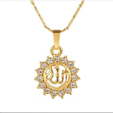billige Mode Halskæde-Halskædevedhæng Sol Tro Damer Etnisk Guld Sølv Rose Guld 55 cm Halskæder Smykker Til Gave Daglig