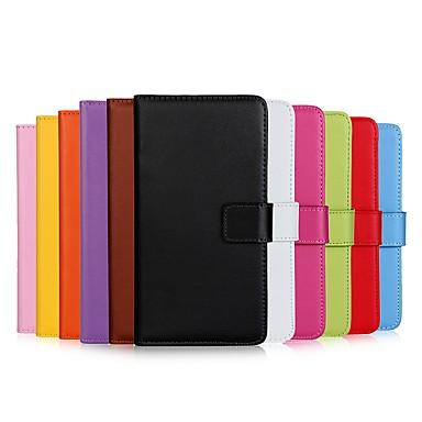 Недорогие Чехлы и кейсы для Galaxy S4 Mini-Кейс для Назначение SSamsung Galaxy S9 / S9 Plus / S8 Plus Кошелек / Бумажник для карт / Флип Чехол Однотонный Твердый Кожа PU