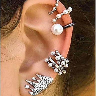 db651b76f cheap Earrings-Women's Mismatched Clip on Earring Ear Cuff Earrings Set