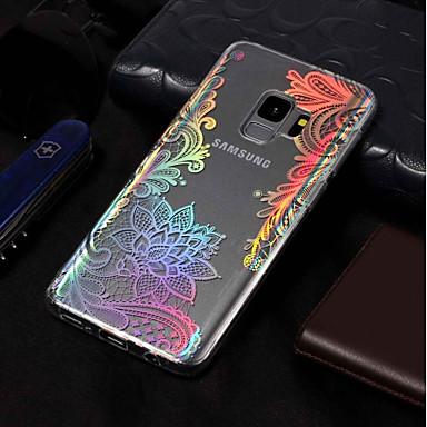 Недорогие Чехлы и кейсы для Galaxy S6 Edge-Кейс для Назначение SSamsung Galaxy S9 / S9 Plus / S8 Plus IMD / С узором Кейс на заднюю панель Кружева Печать Мягкий ТПУ