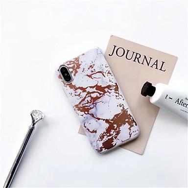 Недорогие Кейсы для iPhone X-Кейс для Назначение Apple iPhone X / iPhone 8 Pluss / iPhone 8 С узором Кейс на заднюю панель Мрамор Мягкий ТПУ