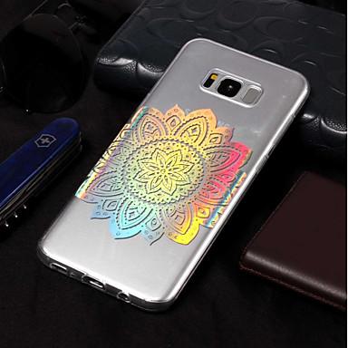 Недорогие Чехлы и кейсы для Galaxy S6-Кейс для Назначение SSamsung Galaxy S9 / S9 Plus / S8 Plus IMD / С узором Кейс на заднюю панель Цветы Мягкий ТПУ