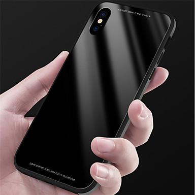 voordelige iPhone 6 hoesjes-hoesje Voor Apple iPhone X / iPhone 8 Plus / iPhone 8 Spiegel Achterkant Effen Hard Gehard glas
