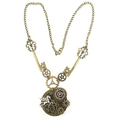 Pendentif de collier - Equipement dames, Rétro, Européen, Steampunk Marron 55 cm Colliers Tendance Bijoux Pour Quotidien, Soirée
