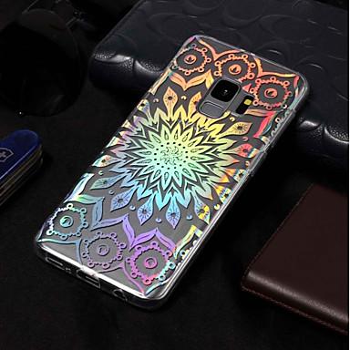 Недорогие Чехлы и кейсы для Galaxy S3-Кейс для Назначение SSamsung Galaxy S9 / S9 Plus / S8 Plus Покрытие / С узором Кейс на заднюю панель Цветы Мягкий ТПУ