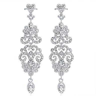 Χαμηλού Κόστους Σκουλαρίκια-Κρυστάλλινο Πολυέλαιος Κρεμαστά Σκουλαρίκια  Σκουλαρίκια Κρεμαστό κυρίες Μοντέρνα Κομψό Κοσμήματα Ασημί Για 252b2d2f410
