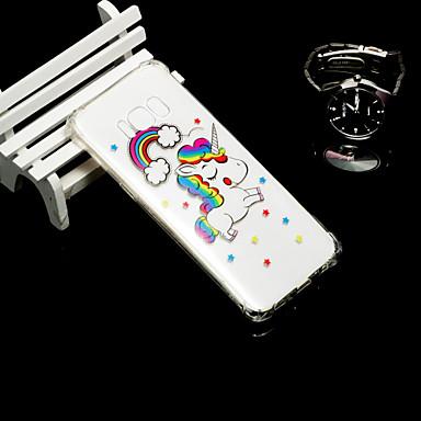 Недорогие Чехлы и кейсы для Galaxy S6-Кейс для Назначение SSamsung Galaxy S9 / S9 Plus / S8 Plus Защита от удара / Полупрозрачный Кейс на заднюю панель единорогом Мягкий ТПУ