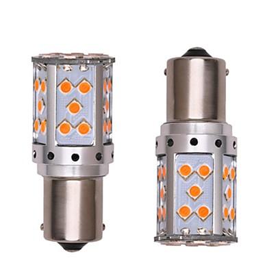 Недорогие Фары для мотоциклов-2pcs 1156 Автомобиль / Мотоцикл Лампы 35W SMD 3030 2800lm 35 Светодиодная лампа Лампа поворотного сигнала / Фары дневного света For