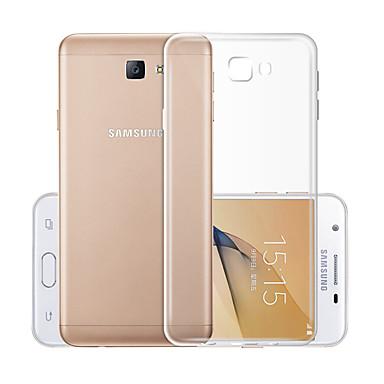 olcso Samsung tartozékok-Case Kompatibilitás Samsung Galaxy J5 (2017) Átlátszó Fekete tok Egyszínű Puha TPU