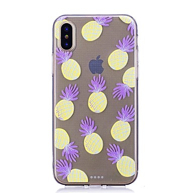 8 Fantasia X TPU iPhone X 06707796 per Morbido 8 Per Custodia iPhone Plus Transparente disegno retro iPhone Apple iPhone Frutta Per wOAxaZ0qX