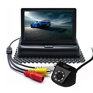 voordelige Auto-achteruitkijkcamera-ziqiao 4.3 inch tft-lcd ccd bedraad 170 graden auto achteruitkijk kit opvouwbaar waterdicht voor in de auto