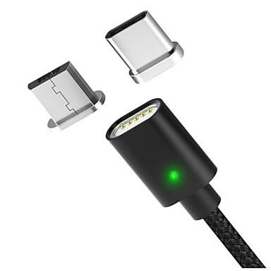 ieftine Cabluri Mac-Micro USB / Tip C Cablu 1m-1.99m / 3ft-6ft Împletit / Înaltă Viteză / Rapidă încărcare Nailon Adaptor pentru cablu USB Pentru Macbook / Samsung / Huawei