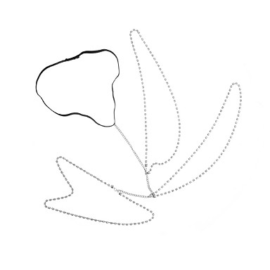 abordables Bijoux Corps-Femme Bijoux de Corps 45 cm Chaîne de Jambe Dorée / Argent Forme de Ligne dames / Elégant Strass / Alliage Bijoux de fantaisie Pour Soirée / Bikini 13.0*9.0*3.0 cm Été