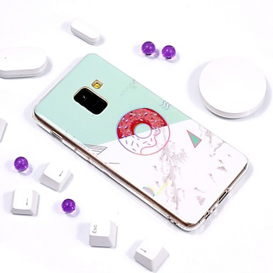 voordelige Galaxy A-serie hoesjes / covers-hoesje Voor Samsung Galaxy A6 (2018) / A6+ (2018) / A3 (2017) Beplating / IMD / Patroon Achterkant Marmer Zacht TPU