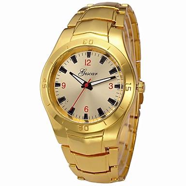 رجالي ساعة المعصم كوارتز ستانلس ستيل فضة / ذهبي ساعة كاجوال كوول طرد كبير مماثل ترف سوار - ذهبي فضي سنة واحدة عمر البطارية