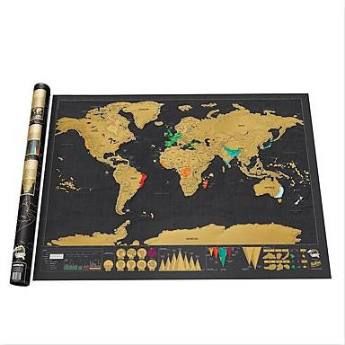 Недорогие Украшения для дома-стереть черную карту мира с нуля на карте мира персонализированные путешествия нуля для карты комнаты