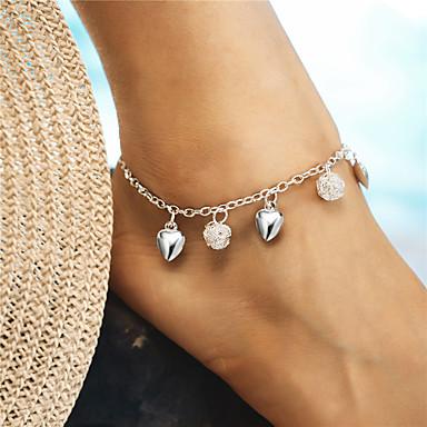رخيصةأون مجوهرات الجسم-نسائي خلخال كرة قلب كرة سيدات موضة أنيق خلخال مجوهرات فضي من أجل هدية مناسب للعطلات