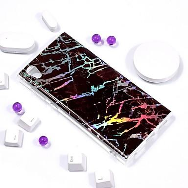 voordelige Hoesjes / covers voor Sony-hoesje Voor Sony Xperia L2 / Sony Xperia L1 Beplating / IMD / Patroon Achterkant Marmer Zacht TPU