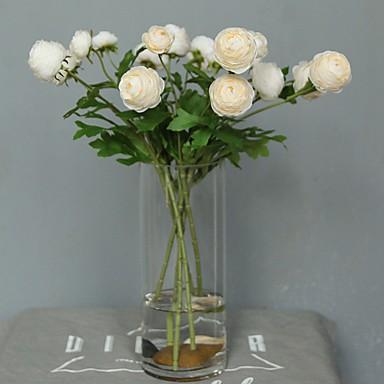 زهور اصطناعية 5 فرع كلاسيكي فردي الزفاف Wedding Flowers الورود الزهور الخالدة أزهار الطاولة