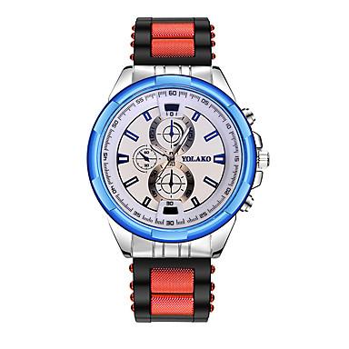 رجالي ساعة المعصم كوارتز سيليكون أسود / أزرق / أحمر ساعة كاجوال مماثل كلاسيكي موضة - أزرق الأبيض / الأزرق أسود / رمادي
