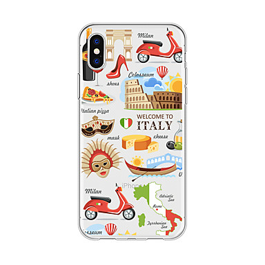 iPhone Apple Per Custodia iPhone 06749432 8 X iPhone Per disegno Morbido Cartoni TPU Plus iPhone iPhone Plus Fantasia della retro 8 animati 8 per X Vista città 5qEdrwxd