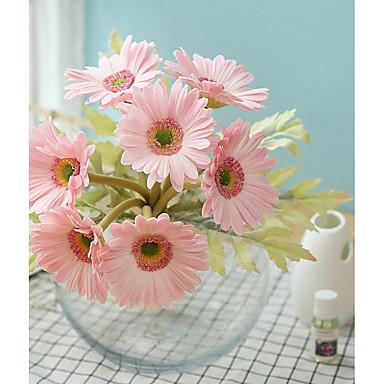 زهور اصطناعية 7 فرع كلاسيكي فردي أسلوب بسيط Wedding Flowers أقحوان الزهور الخالدة أزهار الطاولة