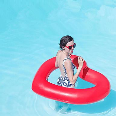 Heart Shape فواشات للمسبح PVC مضاعف قابل للاشتعال سباحة الرياضات المائية إلى بالغين 110*90 cm