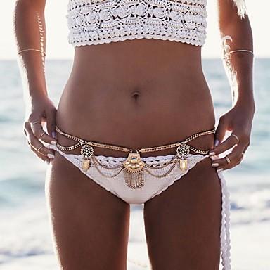 preiswerte Körperschmuck-Damen Körperschmuck 82 cm Hüftkette Gold / Silber Unregelmässig damas / Stilvoll / Böhmische Aleación Modeschmuck Für Klub / Bikini 8.5*8.5*1.0 cm Sommer