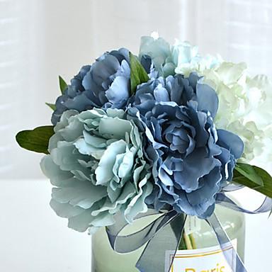 زهور اصطناعية 5 فرع كلاسيكي الزفاف أوروبي الفاوانيا أزهار الطاولة