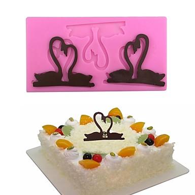 1PC هلام السيليكون 3Dكرتون محبوب خلاق كعكة تبرعم Cube قوالب الكيك أدوات خبز