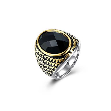 בגדי ריקוד גברים פיסול 3D מדומה טבעת הטבעת טבעת הצהרה פלדת טיטניום וינטאג' פאנק Fashion Ring תכשיטים שחור עבור חתונה יומי נשף מסכות מסיבה אלגנטית נשף רקודים חגים 9 / 10