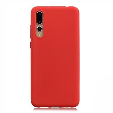 غطاء من أجل Huawei Huawei P20 Pro / Huawei P20 lite / P8 Lite (2017) نحيف جداً غطاء خلفي لون سادة ناعم TPU