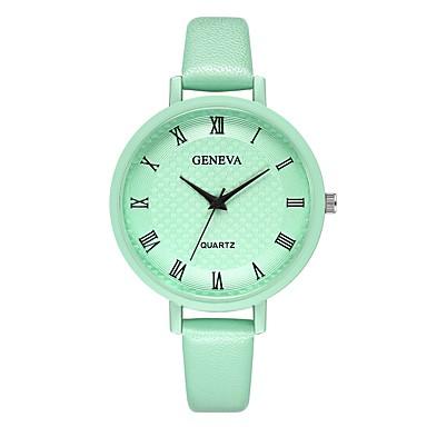 Geneva نسائي ساعة المعصم كوارتز جلد أسود / بني / أخضر تصميم جديد ساعة كاجوال كوول مماثل سيدات كاجوال موضة - أخضر أبيض / البيج أسود / ذهبي روزي سنة واحدة عمر البطارية