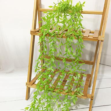 زهور اصطناعية 1 فرع معلقة على الحائط أسلوب بسيط النمط الرعوي نباتات أزهار الحائط