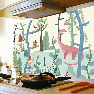 لواصق حائط مزخرفة - ملصقات الحائط الحيوان حيوانات مطبخ / غرفة الطعام / قابل اعادة الوضع