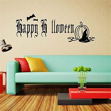 لواصق حائط مزخرفة - عطلة ملصقات الحائط Halloween غرفة الجلوس / غرفة النوم / دورة المياه