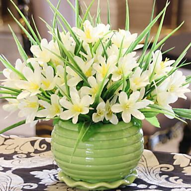 زهور اصطناعية 1 فرع كلاسيكي فردي أسلوب بسيط الزنابق أزهار الطاولة