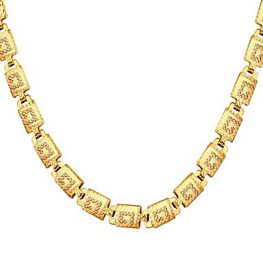 رجالي قلادات ضيقة واحد ستراند موضة نحاس ذهبي فضي ذهبي روزي 56 cm قلادة مجوهرات 1PC من أجل هدية مناسب للبس اليومي