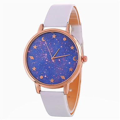 نسائي ساعة المعصم كوارتز جلد اصطناعي أسود / الأبيض / أزرق ساعة كاجوال محبوب مماثل سيدات موضة غني بالألوان - بني أحمر أزرق