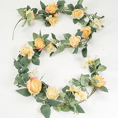 زهور اصطناعية 1 فرع كلاسيكي زهري الورود أزهار الحائط