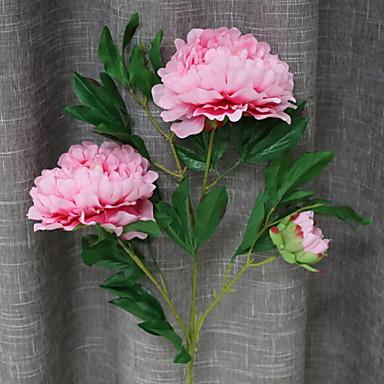 زهور اصطناعية 1 فرع كلاسيكي أنيق الفاوانيا أزهار الطاولة