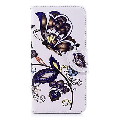 غطاء من أجل Samsung Galaxy A5(2018) / A6 (2018) / A6+ (2018) محفظة / حامل البطاقات / مع حامل غطاء كامل للجسم فراشة قاسي جلد PU