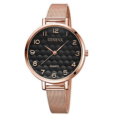 Geneva نسائي ساعة المعصم ساعة ذهبية كوارتز أسود / ذهبي روزي تصميم جديد ساعة كاجوال كوول مماثل كاجوال موضة - أسود أسود وذهبي أسود / ذهبي روزي سنة واحدة عمر البطارية