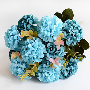 زهور اصطناعية 1 فرع كلاسيكي الحديث أرطنسية أزهار الأرض