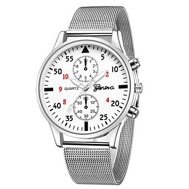 Geneva نسائي ساعة المعصم كوارتز فضة تصميم جديد ساعة كاجوال كوول مماثل كاجوال موضة - أسود / أبيض أسود / فضي فضي / أزرق سنة واحدة عمر البطارية