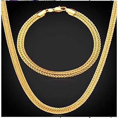 رجالي قلادة خمر ستايل إطار العجلة سيدات موضة دبي مطلية بالذهب الأقراط مجوهرات ذهبي من أجل مناسب للبس اليومي حفلة ليلية